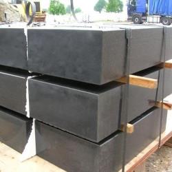 Sandstein Blockstufen Geltona Gelb weiß geadert geschliffen Detail