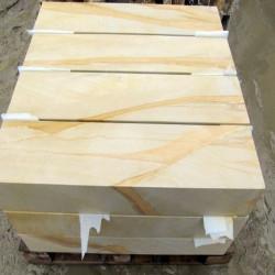 Sandstein Blockstufen Mapula rot 15 x 45 cm