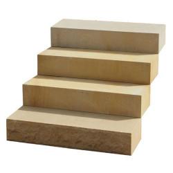 Granit Pfosten mit Spitze grau15 x 15 cm geflammt