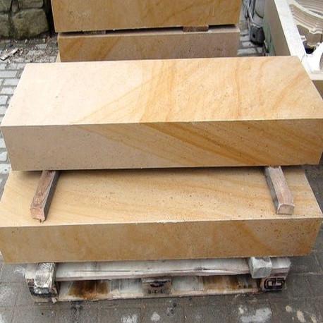 Granit-Blockstufen Griys Hellgrau 15 x 35 cm 80 cm lang