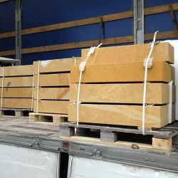 Granit-Blockstufen Griys Hellgrau 18 x 45 cm 80 cm lang