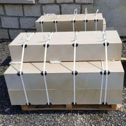Basalt Blockstufen 18 x 35 cm geflammt mit Radius