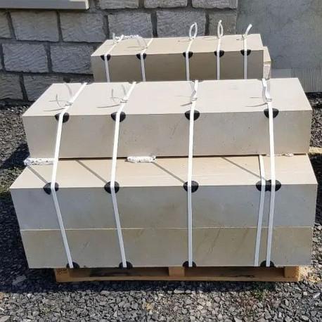 Granit-Blockstufen Griys Hellgrau 15 x 45 cm