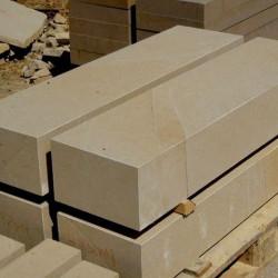 Granit-Blockstufen Griys Hellgrau 15 x 45 cm geflammt