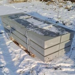 18 x 35 CM Sandstein Blockstufen Mapula Rot