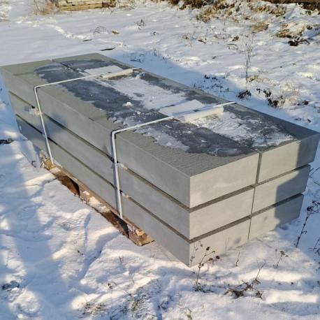 Sandstein Blockstufen Mapula Rot 18 x 35 cm geschliffen gewendelt