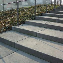 Granit-Blockstufen Griys Hellgrau 18 x 40 cm