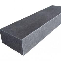 Sandstein Blockstufen Mapula Rot geschliffen Format 18 x 35 cm   200 cm lang gewendelt