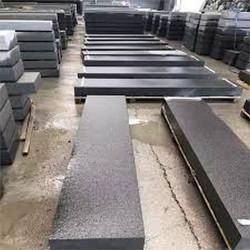 Granit Blockstufen Griys  hellgrau 20 x 35 cm geflammt mit Podestplatte