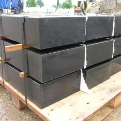 Granit-Blockstufen Griys Hellgrau 20 x 40 cm