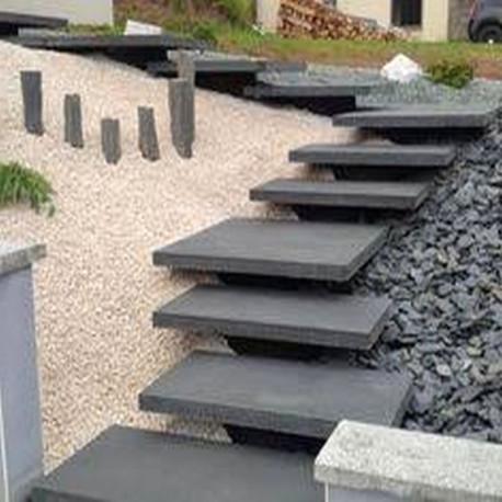 Sandstein Blockstufen Mapula Rot 20 x 35 cm geschliffen