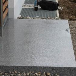 Granit-Podest Platten Griys hellgrau 15 cm