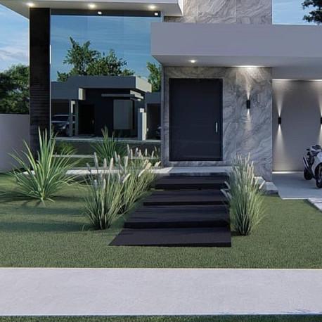 Legstufen aus Basalt Schwarz geflammt 6 cm stark 30 cm breit  150 cm lang