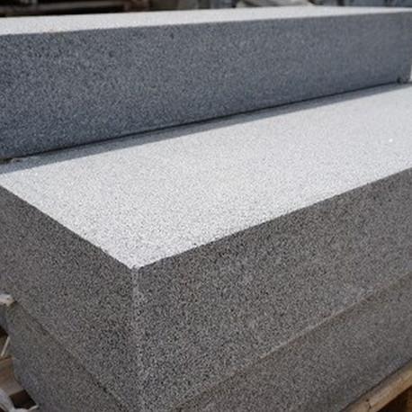 Granit Mauersteine Griys hellgrau 25 cm hoch 25 cm tief