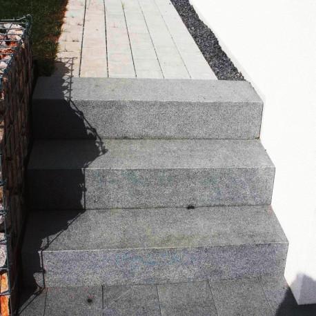 Granit Mauersteine Griys hellgrau 10 cm hoch