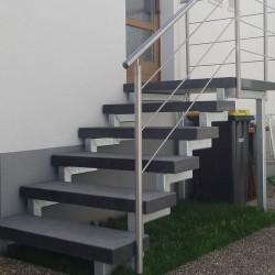 Granit Quadersteine Griys hellgrau 40 cm hoch gespalten und 40 cm tief