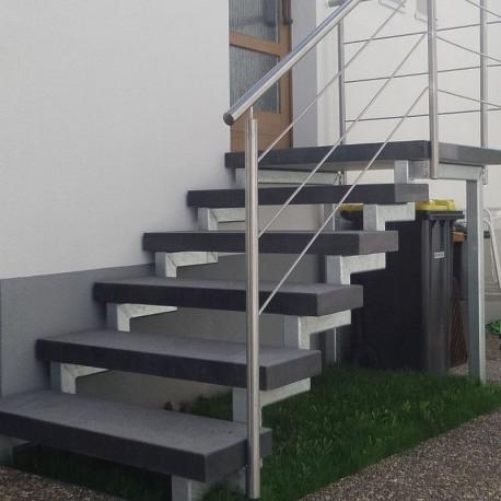 Geschliffene Sandstein Mauerabdeckplatte Mulicolour 3 cm