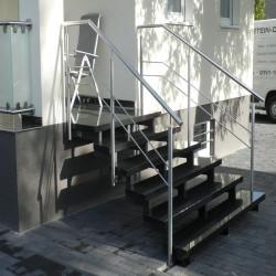 Granit Quadersteine Griys hellgrau 40 cm hoch gespalten