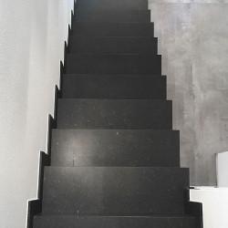 Granit Sichtschutz und Zaun Element Hellgrau 10 x 100 cm