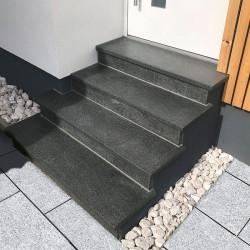 Granit Mauersteine Griys Hellgrau 50 cm hoch gesägt PALETTIERT