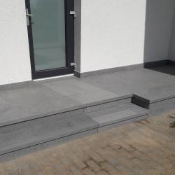 Sandstein Quader Farin gelb beige 40 cm hoch gespalten pallettiert