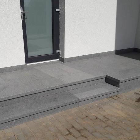 Granit Quader Raudona Rot 40 cm hoch