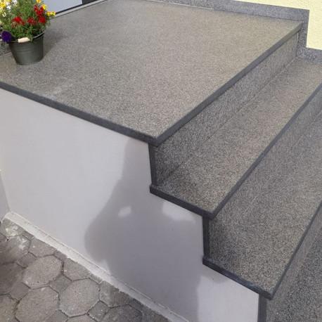 Sandstein Quader Farin gelb beige 40 cm hoch gespalten