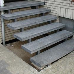 Granit Palisaden Griys Hellgrau 10 x 25 cm geflammt