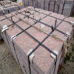 Sandstein Mauerabdeckplatten Mapula rot 3 cm stark 36 cm breit