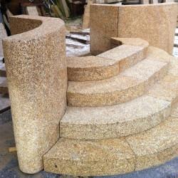 Sandstein Terrassenplatten Alba Weiß 3 cm stark sandgestrahlt Detail