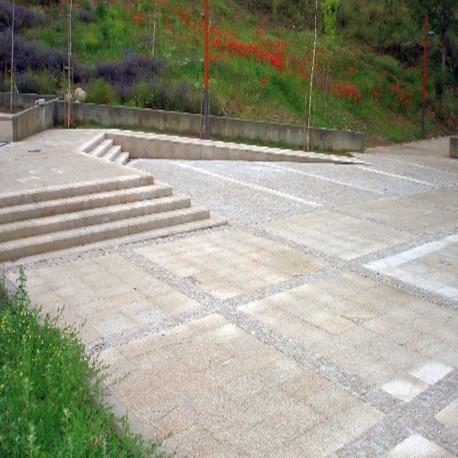 Granit Griys Sichtschutz Hellgrau 10 x 50 cm