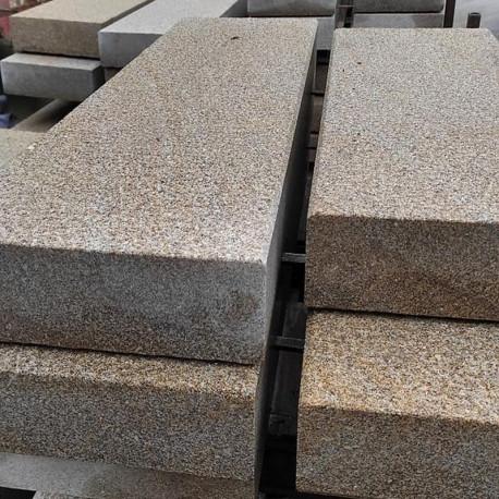 Granit Palisaden Griys hellgrau 10 x 25 cm