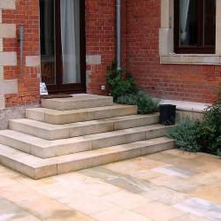 Antike Granit Terrassenplatten 5 cm stark 100 x 100 cm