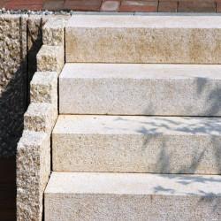 Granit Sichtschutz Griys hellgrau 10 x 100 cm