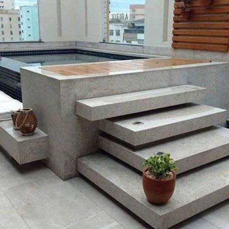 150 cm lange Limes Granit Pfosten Griys hellgrau 25 x 25 cm