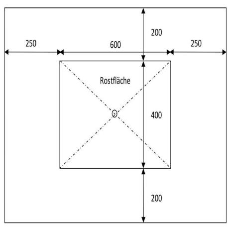 Granit Pfosten Griys hellgrau 30 x 30 cm