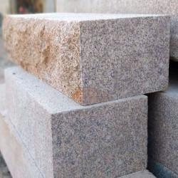 Granit Griys Sicht und Windschutzelement 10 x 50 cm gesägt und geflammt in verschiedenen Längen