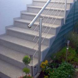 Granit Pfosten Griys hellgrau gesagt und geflammt 20 x 20 cm
