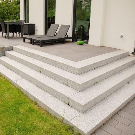 Granit Zaun und Pergola Pfosten Griys 25 x 25 cm gesägt und geflammt