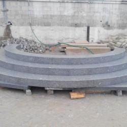 Granit Zaun und Pergola Pfosten Griys 25 x 25 cm gesägt und geflammt Sondergröße