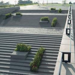 Straßenpoller Rondo Granit Griys hellgrau Rund 40 cm