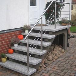 300 x 150 x 15 CM Granit Brücke Griys Hellgrau