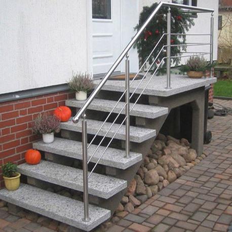 Granit Brücke Griys grau gesägt und geflammt 300 x 150 cm  15 cm stark