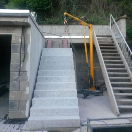 Granit Blockstufen Griys grau 15 x 35 cm 200 cm lang
