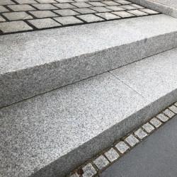 Granit Griys Sichtschutz und Zaun Element Hellgrau 10 x 50 cm 150 cm lang
