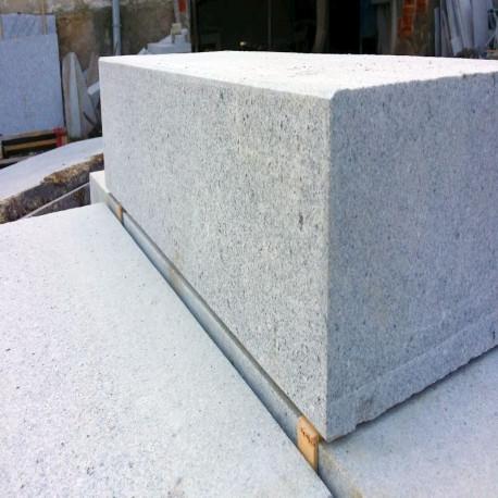 Sandstein Mauer Abdeck Platte Alba weiß 3 cm