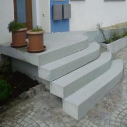 Granit Pflasterplatten Griys hellgrau 8 cm