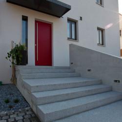 Basalt Pflaster Platten 6 cm gesägt und geflammt Format 60 x 40 cm
