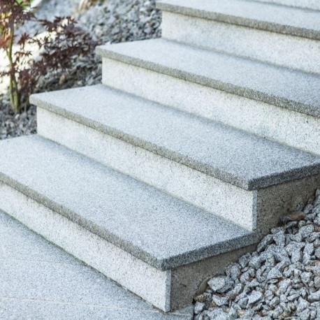 Granit Pflaster Steine Saga light gespalten 15 x 17