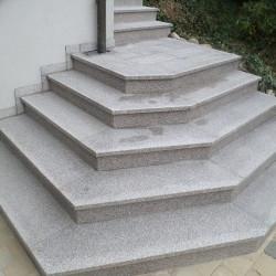 Granit Pflasterplatten Griys hellgrau geflammt 6 cm dick Größe 40 x 30 cm